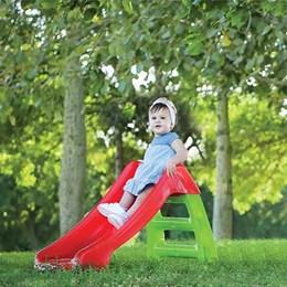 Escorregador Infantil 2 Degraus Vermelho e Verde Starplast