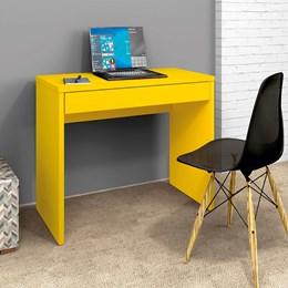 Escrivaninha 1 Gaveta Slim Amarelo - Zanzini