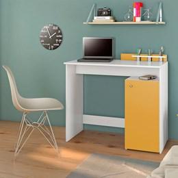 Escrivaninha Ciranda Candian Branco/Amarelo - JCM Móveis