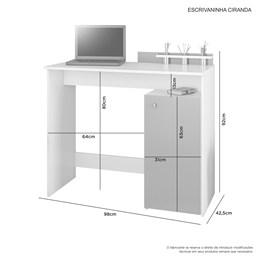 Escrivaninha Ciranda Candian Branco/Tifany - JCM Móveis