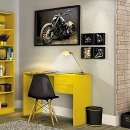 Escrivaninha Intelectual 2 gavetas  Amarelo - Zanzini