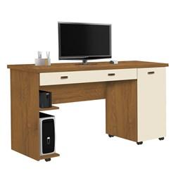 Escrivaninha Mesa de Computador Ariel Mel/Pérola