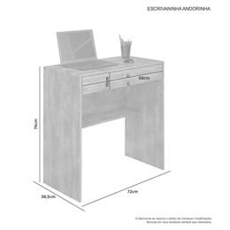 Escrivaninha mesa para computador Andorinha Candian Branco - JCM Movelaria