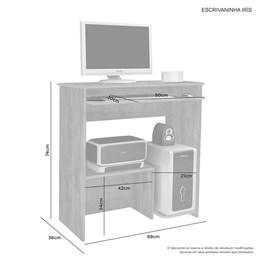 Escrivaninha mesa para computador Iris Candian Branco - JCM Movelaria