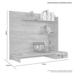 Escrivaninha mesa para computador Manu Candian Branco - JCM Movelaria