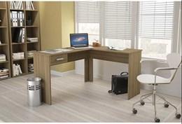 Escrivaninha/Mesa para Computador ou Escritorio Em L Fenix 1 Gaveta - Politorno