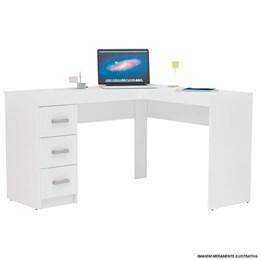 Escrivaninha/Mesa para Computador ou Escritorio Em L Fenix 3 Gavetas  - Politorno