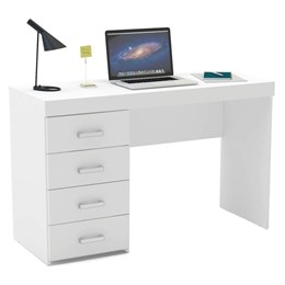 Escrivaninha/Mesa para Computador ou Escritorio Malta 4 Gavetas  - Politorno