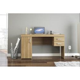 Escrivaninha/Mesa para Computador ou Escritorio Miranda 1 Porta 2 Gavetas  - Politorno