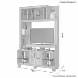 Estante Araguari para TV até 32 Polegadas Cacau/Grigio - JCM Móveis