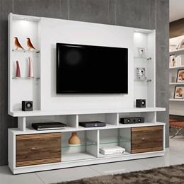 Estante Home Branco para TV até 55 Polegadas 2 Portas e LED Maracás - CHF