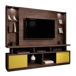 Estante Home Chocolate para TV até 55 Polegadas 2 Portas e LED Maracás - CHF