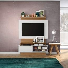 Estante Home Para Tv Até 42 Polegadas 1 Porta De Correr Off White/Freijo