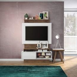 Estante Home Para Tv Até 42 Polegadas 1 Porta De Correr Off White/Nobre