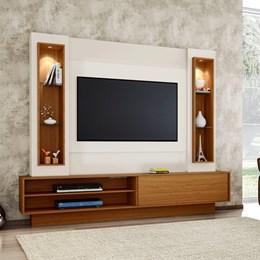 Estante Home Para Tv Até 46 Polegadas 1 Porta De Correr E Led Off White/Frejo