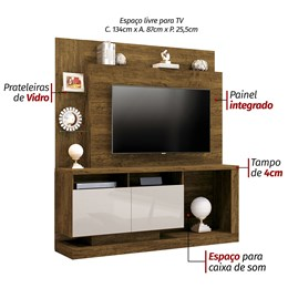 Estante Home Theater Para TV até 55 Polegadas Canion TX/OFF White - Mavaular