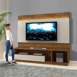 Estante Home Theather p/ TV até 65 Polegadas Conquista - Mavaular Canion/Off White