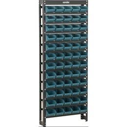 Estante Metalica Desmontavel Preta com 60 Gavetas Azuis  N°3