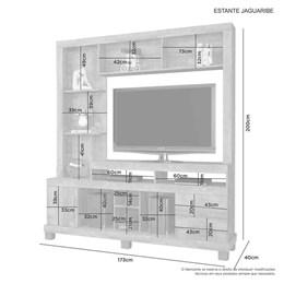 Estante  para TV até 42Pol Jaguaribe Candian Nobre - JCM Movelaria