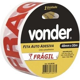 FITA AUTO ADESIVA FRAGIL 48MMX50M VONDER