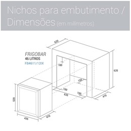 Frigobar 46 Litros Inox 220V - Suggar