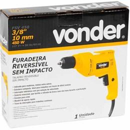 """Furadeira sem impacto 3/8"""" 450 W FSV 450 - Vonder"""