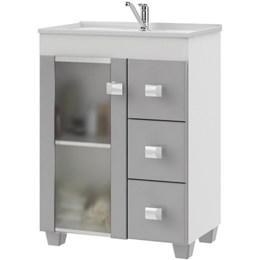 Gabinete  Linhares Para Banheiro c/1 Porta de vidro  - MGM