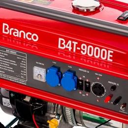 Gerador à Gasolina B4T9000E Partida Elétrica e Manual Branco Motores