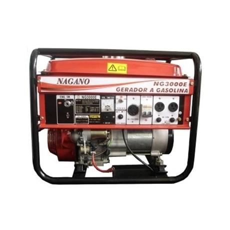 cd789485468 Gerador à gasolina NAGANO 3 kva monofásico partida elétrica bivolt ...