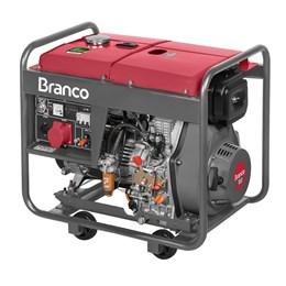 Gerador de Energia a Diesel 8 KVA  220V Trifásico 110v mono Partida Elétrica - Branco Motores