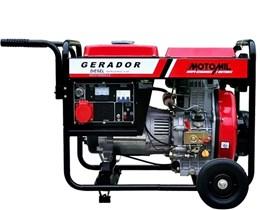 Gerador de Energia a Diesel de 6000W Bivolt - 6,5 KVA - Motomil MDG-6500CLE