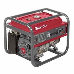 Gerador de energia à gasolina B4T-8000 Bivolt - Branco Motores