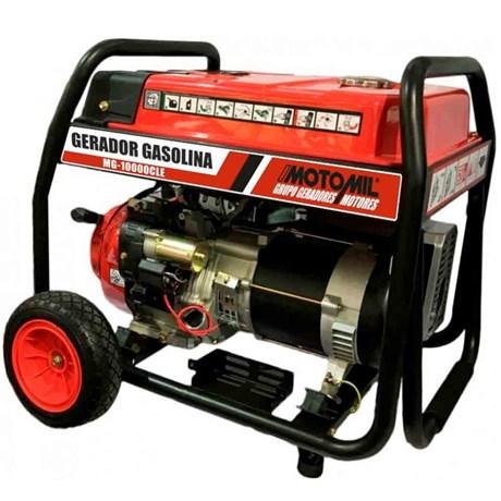 Gerador De Energia À Gasolina Monofásico 4T- 18 HP- 10 Kva Mg-10000Cle Motomil
