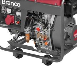 Gerador de Energia BD8000E3 a Diesel 380V 8Kva Partida Elétrica - Branco Motores