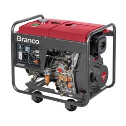 Gerador De Energia Diesel 6,5Kva Partida Elétrica BD-8000 EF Branco