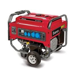 Gerador de Energia Gasolina B4T-8000E 8KVA Partida Manual e Elétrica Branco