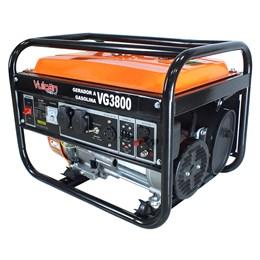 Gerador VG3800 a Gasolina 4T  208CC 7HP 3.75 KVA Bivolt Partida Manual - Vulcan Equipamentos