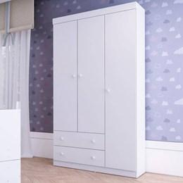Guarda Roupa Bambolê 3 Portas 2 Gavetas Branco Premium Multimóveis