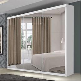 Guarda roupa casal com espelho 3 portas de correr Flórida Premium