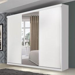 Guarda roupa casal com espelho 3 portas de correr Scoth Premium