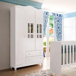 Guarda Roupa Infantil Ariel 3 Portas - Carolina Baby
