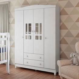 Guarda Roupa Infantil Ariel 4 Portas - Carolina Baby