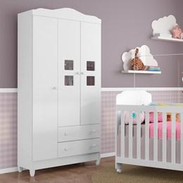 Guarda Roupa Infantil Carol 3 Portas - Carolina Baby
