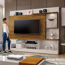 Home Dinamarca Com Espelho Plus Para TV 65 Polegadas Off White / Canion  - Mavaular