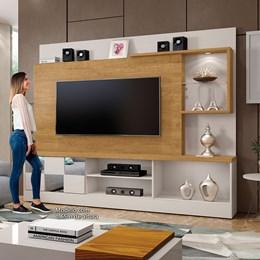Home Dinamarca Com Espelho Plus Para TV 65 Polegadas Off White/ Damasco - Mavaular