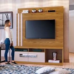 Home Exitus Para TV 65 Polegadas Carvalho Ouro/Off White - Mavaular