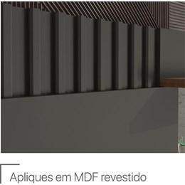 """Home Rack Com Painel TV 55"""" Chumbo/Savana Copacabana Permobili"""
