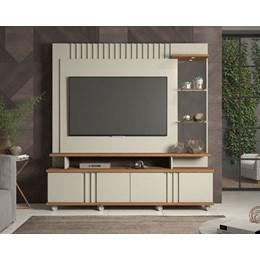 """Home Rack Com Painel TV 55"""" Off White/Savana Copacabana Permobili"""