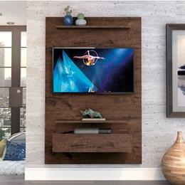 "Home Suspenso Exclusive 120cm P/TV até 49"" Jacarandá - Zanzini"