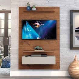 """Home Suspenso Exclusive 120cm P/TV até 49"""" Natural/Off White - Zanzini"""